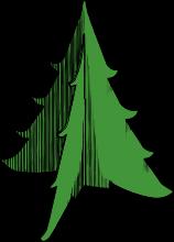 Papírový vánoční stromek