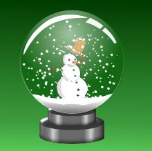 Sněhulák - vánoční dekorace na stůl