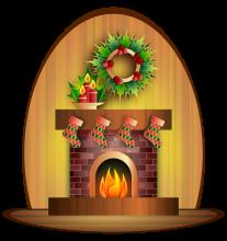 Vánoční krb