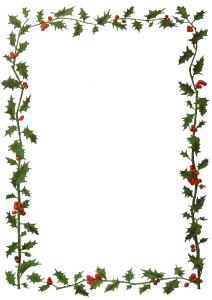 Jmenovka na vánoční dárky s motivem cesmíny k vytisknutí