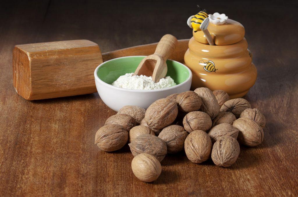 Ořechy a mouka