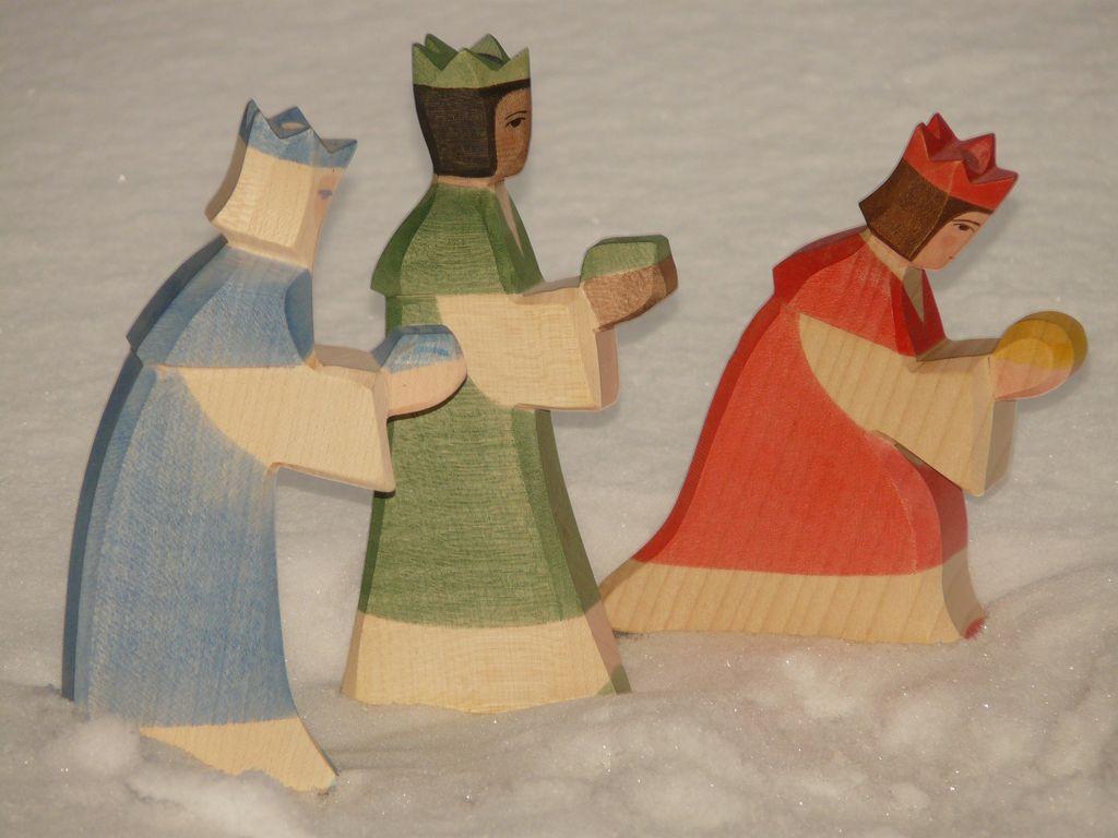 Tři králové ze dřeva