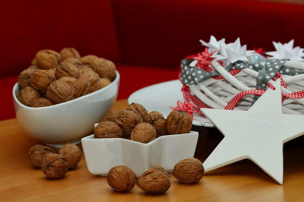 Vlašské ořechy jako dekorace